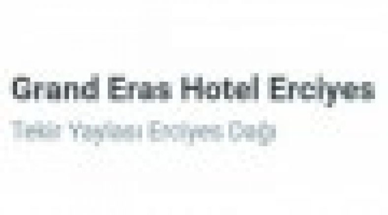 Grand Eras Hotel Şikayet